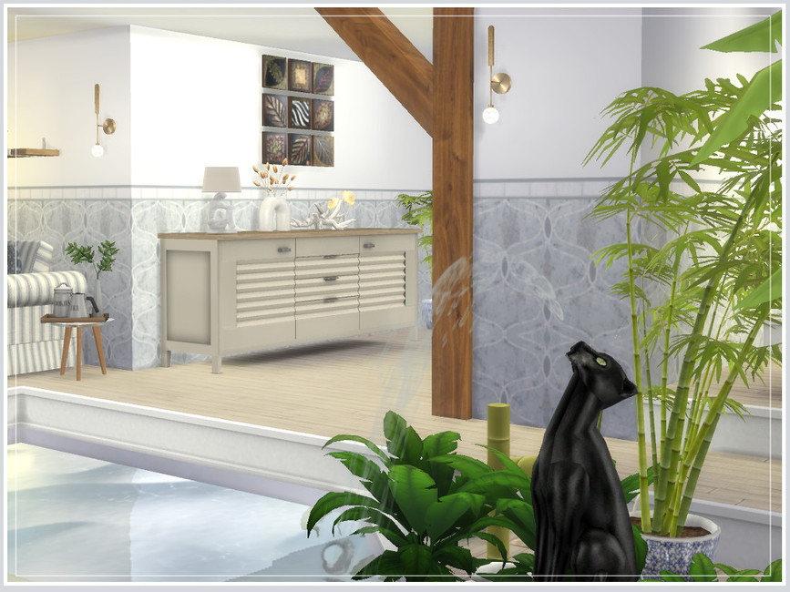 Дом с бассейном Симс 4 (картинка 6)