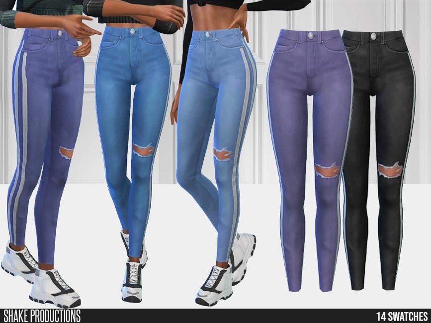Джинсы 749 - Jeans Симс 4
