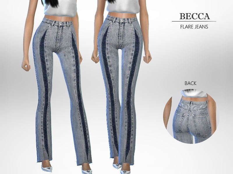 Джинсы Becca - Flare Jeans Симс 4