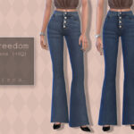 Джинсы Freedom Jeans Симс 4