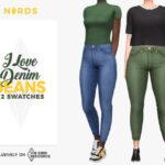 Джинсы I love Denim Jeans Симс 4