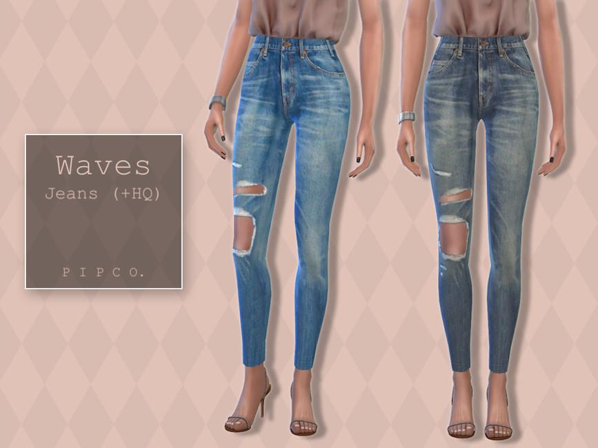 Джинсы Waves Jeans Симс 4