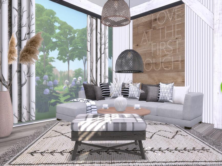 Гостиная Akira Livingroom Симс 4