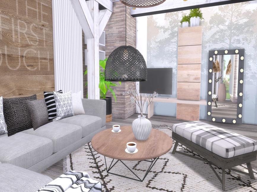 Гостиная Akira Livingroom Симс 4 (картинка 3)