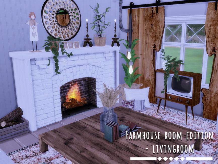 Гостиная Farmhouse Livingroom Симс 4