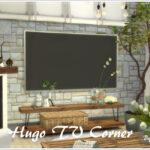 Гостиная Hugo TV Corner Симс 4