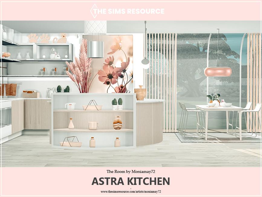 Кухня Astra Kitchen Симс 4