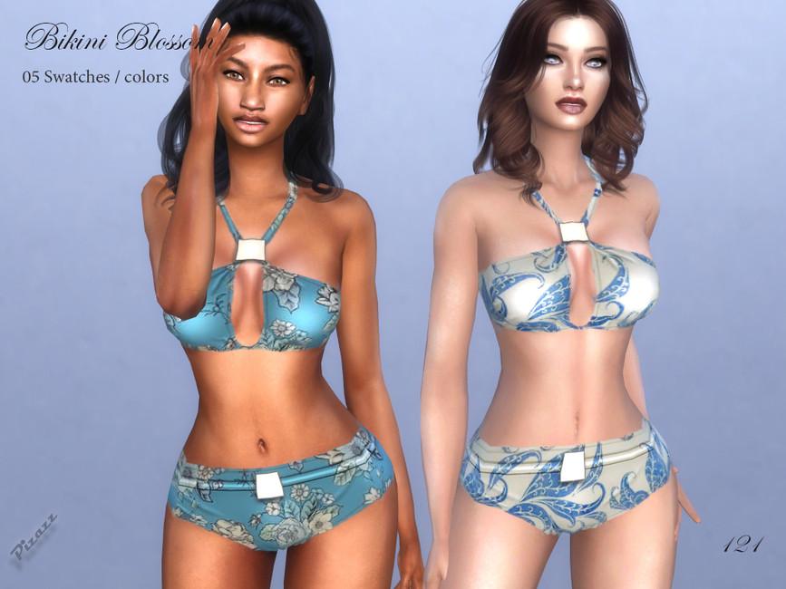 Купальник Bikini Blossom Симс 4