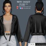 Куртка Moto Jacket with Top Симс 4