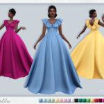 Мод бальное платье Симс 4
