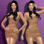 Моды короткое платье Симс 4