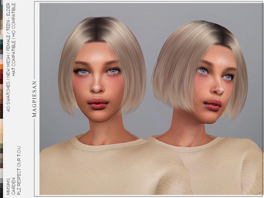 Мод женская прическа каре Симс 4
