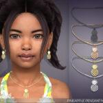 Ожерелье для детей Pineapple Pendant Necklace For Kids Симс 4