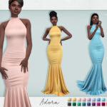 Платье Adora Dress Симс 4