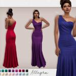 Платье Allegra Dress Симс 4