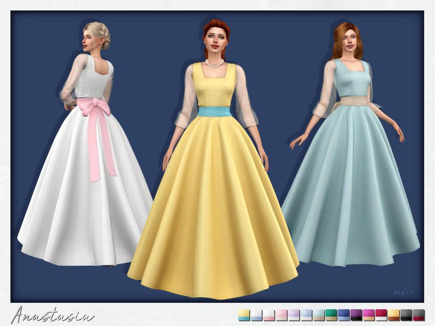 Платье Anastasia Dress Симс 4