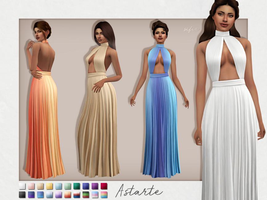 Платье Astarte Dress Симс 4