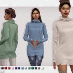 Платье Astrid Sweater Dress Симс 4