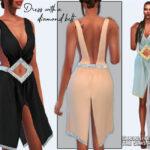 Платье Dress With a Diamond Belt Симс 4