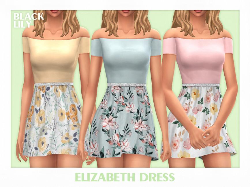 Платье Elizabeth Dress Симс 4