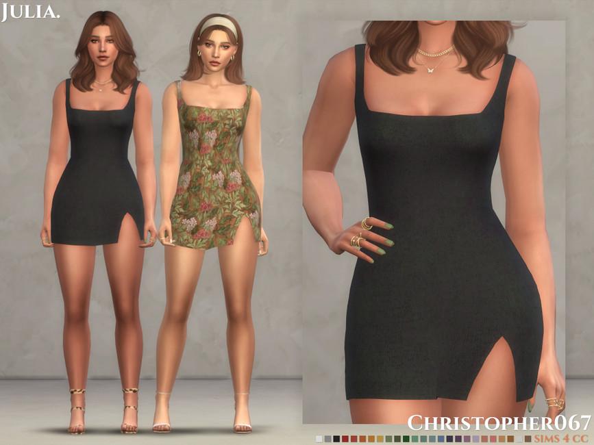 Платье Julia Dress Симс 4
