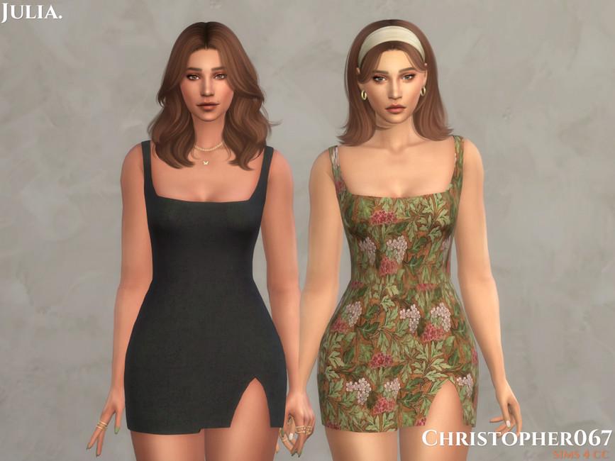 Платье Julia Dress Симс 4 (картинка 2)