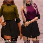 Платье Shirt Dress v2 Симс 4