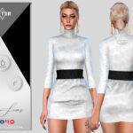 Платье Short Dress Симс 4