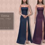 Платье в пол Emma Gown Симс 4