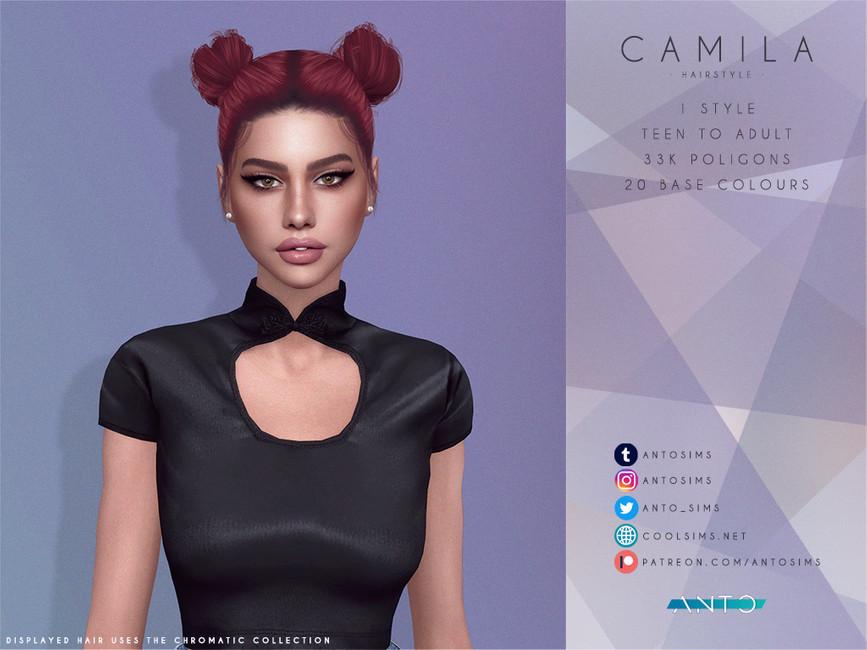 Прическа Camila Симс 4