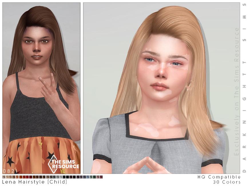 Прическа Lena Hairstyle Симс 4