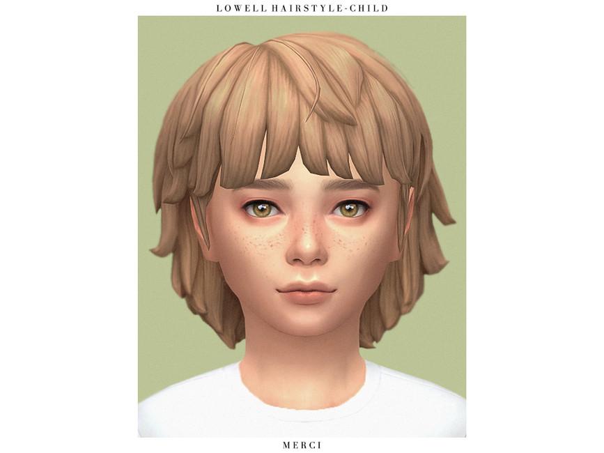 Прическа Lowell Hairstyle - Child Симс 4