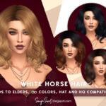 Прическа White Horse Hair Симс 4