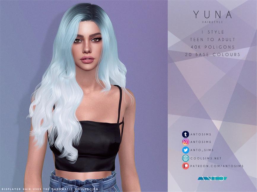Прическа Yuna Симс 4