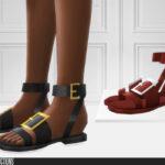 Сандали 741 - Leather Sandals Симс 4