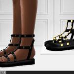 Сандали 742 - Studded Sandals Симс 4