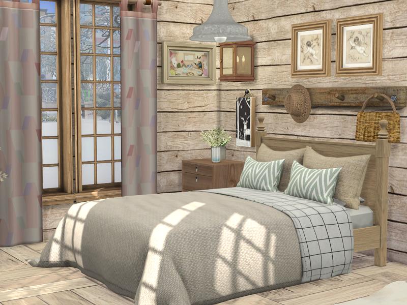 Спальня Alpine Bedroom Симс 4
