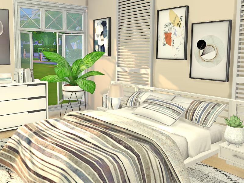 Спальня Bedroom Miami Симс 4