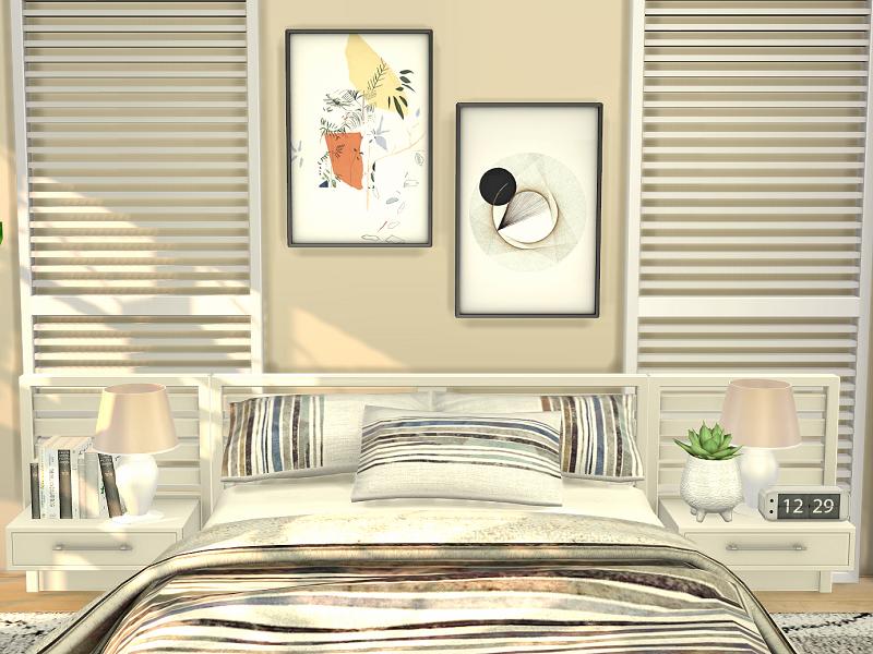 Спальня Bedroom Miami Симс 4 (картинка 2)
