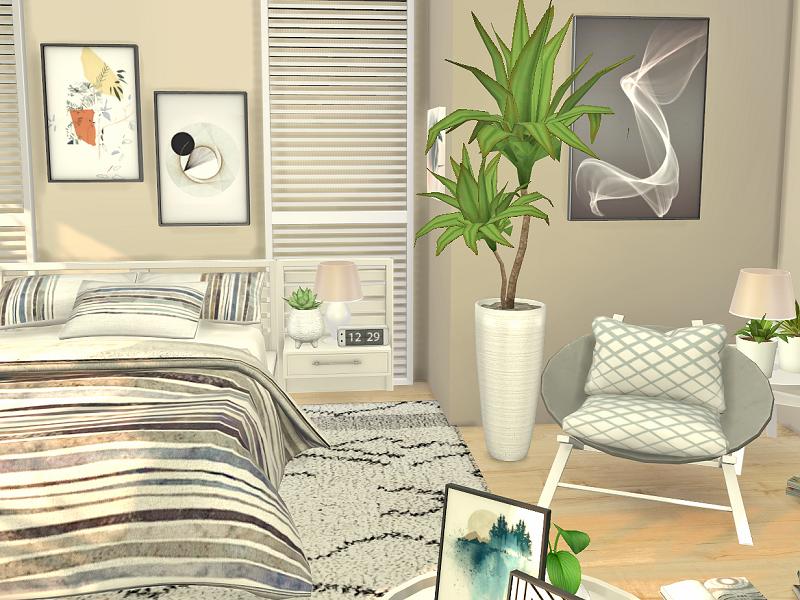 Спальня Bedroom Miami Симс 4 (картинка 4)