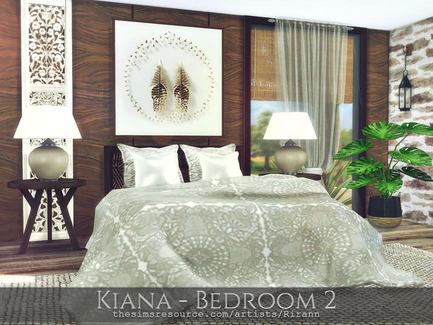 Спальня Kiana - Bedroom 2 Симс 4