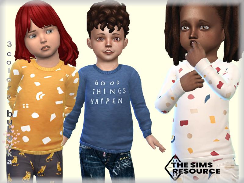 Свитер Sweater Toddler Симс 4