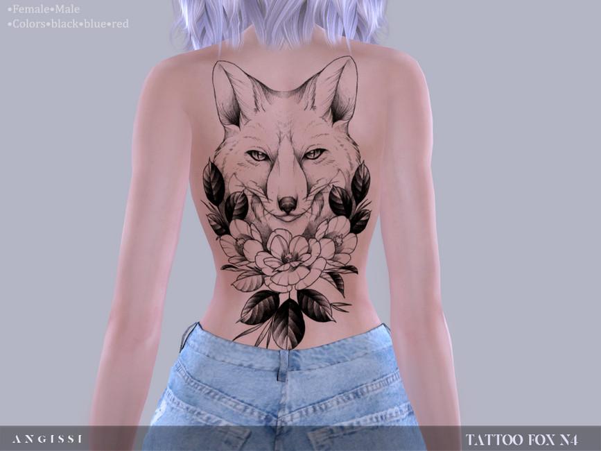 Татуировка на спину Симс 4