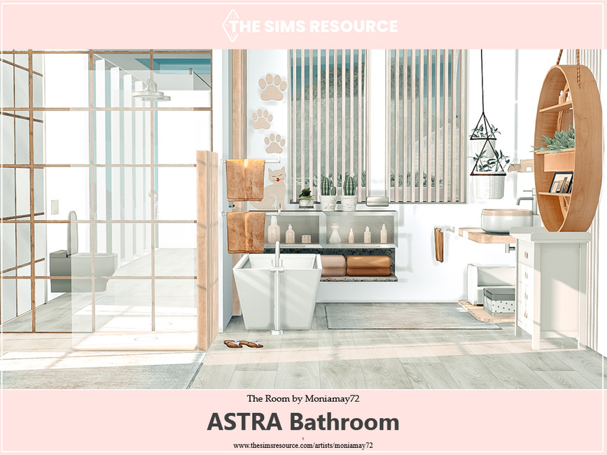 Ванная Astra Bathroom Симс 4