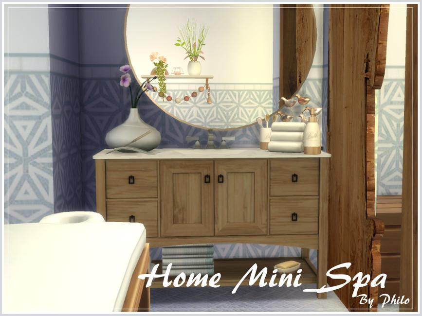 Ванная Home Mini-Spa Симс 4