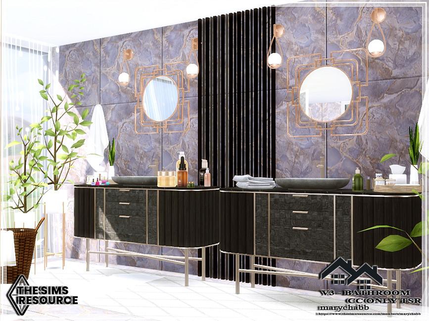 Ванная комната V3 - Bathroom Симс 4 (картинка 2)