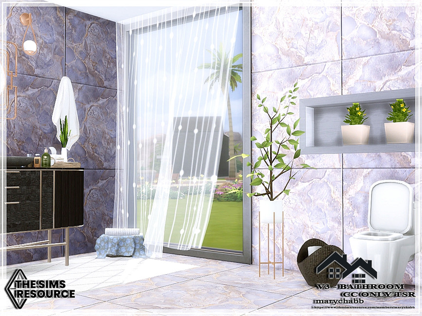 Ванная комната V3 - Bathroom Симс 4 (картинка 3)