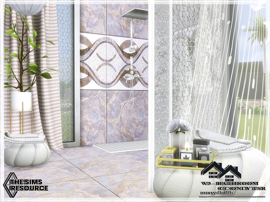 Ванная комната V3 - Bathroom Симс 4 (картинка 4)