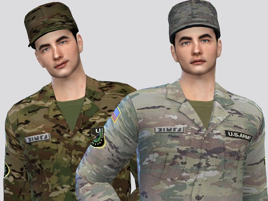 Военная кепка Симс 4