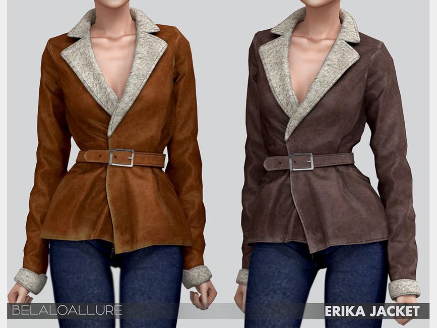 Женская куртка для Симс 4